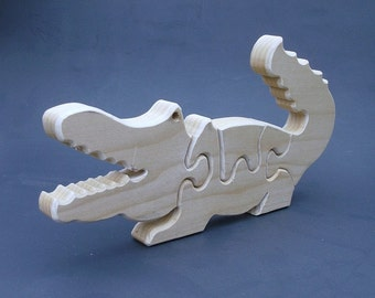 wood alligator animal puzzle