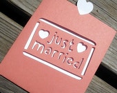 Just Married Thank You Note - Custom Colors