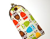 Eyeglass Case in Owl Fabric