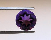 African Amethyst faceted round gem, 10mm, 3.35 carats                         002-08-005