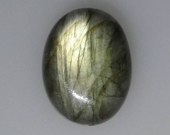Green flash oval LABRADORITE cab bead 36 carats                             043-008-004