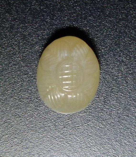 32.89 carat carved peach-pink MOONSTONE cab                 050-21-006