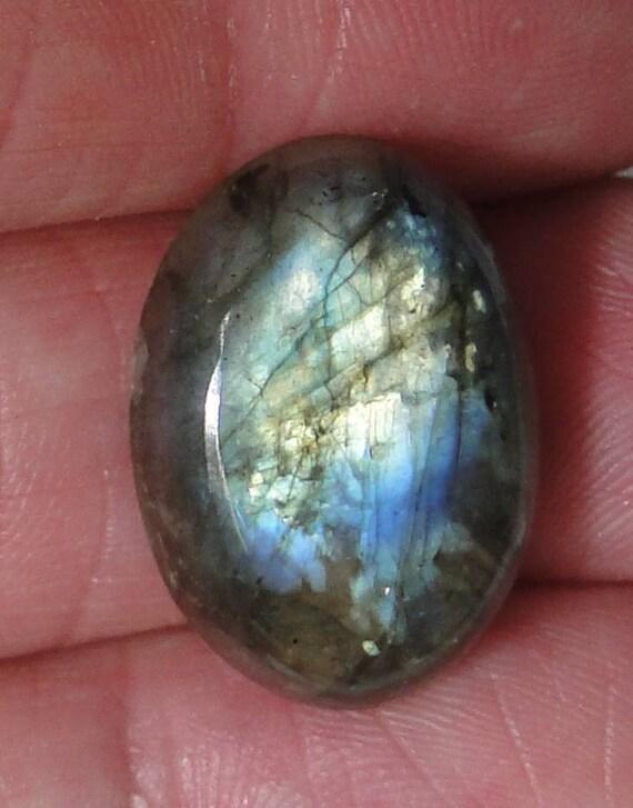 Labradorite oval cabochon, 15x21mm, 18 carats, multi color flash                             043-10-646