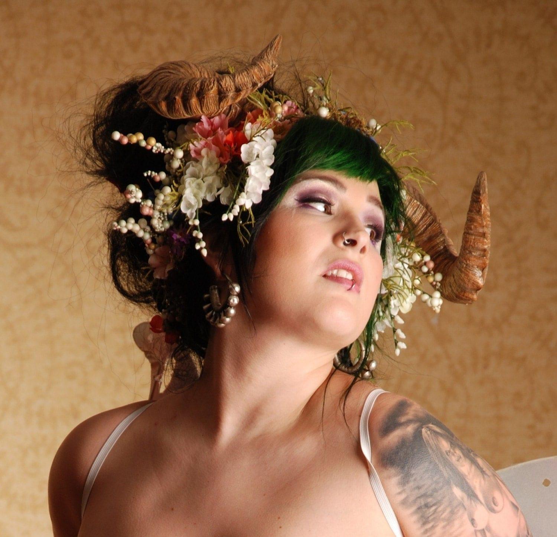Maenad Ram Horn Headdress
