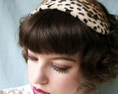 Leopard Cocktail Hat
