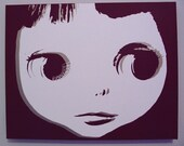 Blythe Doll hand painted stencil art