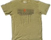 Men's Red Hook T-Shirt in Green, Brooklyn Industrial Sign XL