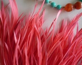 GOOSE BIOT FEATHERS / Neon Flamingo Pink  / 739