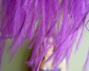 OSTRICH FEATHER FRINGE , Fuchsia Magenta / 332