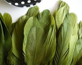 VOGUE GOOSE FRINGE, Exclusive  Quality,  Olive Green  / 811