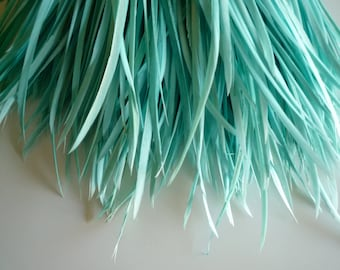 GOOSE BIOT FEATHERS, Aqua Blue, Sea Glass Blue   /  716