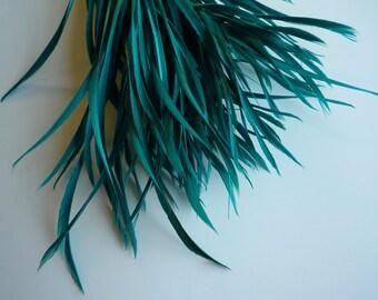 GOOSE BIOT FEATHERS,  Emerald, Jade Green    /  745