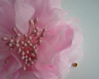 SILK PEONY FLOWER , Powder Pink / 640