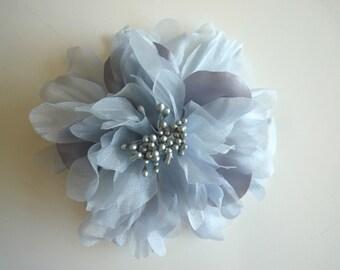 SILK PEONY FLOWER , Silver Grey / 643