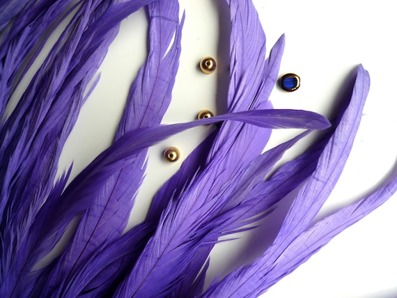 coque tail feathers loose lavender purple by kimonosfeathers. Black Bedroom Furniture Sets. Home Design Ideas