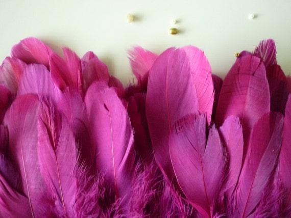 FEATHER FRINGE , Fuchsia,  Wild berry two tone / 443 / On SALE