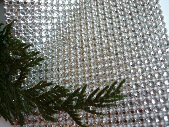 PRINCESS Rhinestone  Banding, Trim  /  Clear Crystal w/ Flat Silver Back / 24 rows / 4009