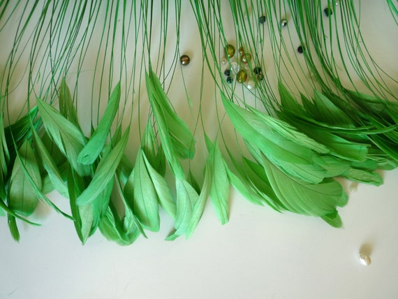 STRIPPED COQUE TAIL / Dusty Celadon, Kelly  Green / 1136