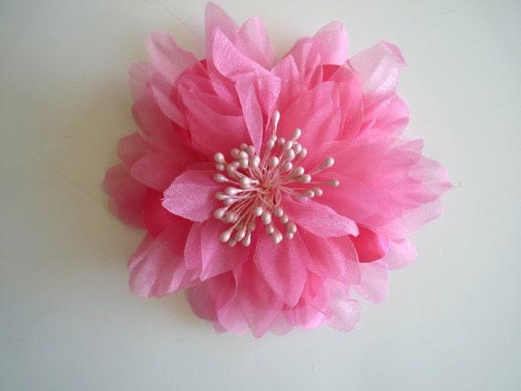 SILK PEONY FLOWER , Lipstick Pink / 638