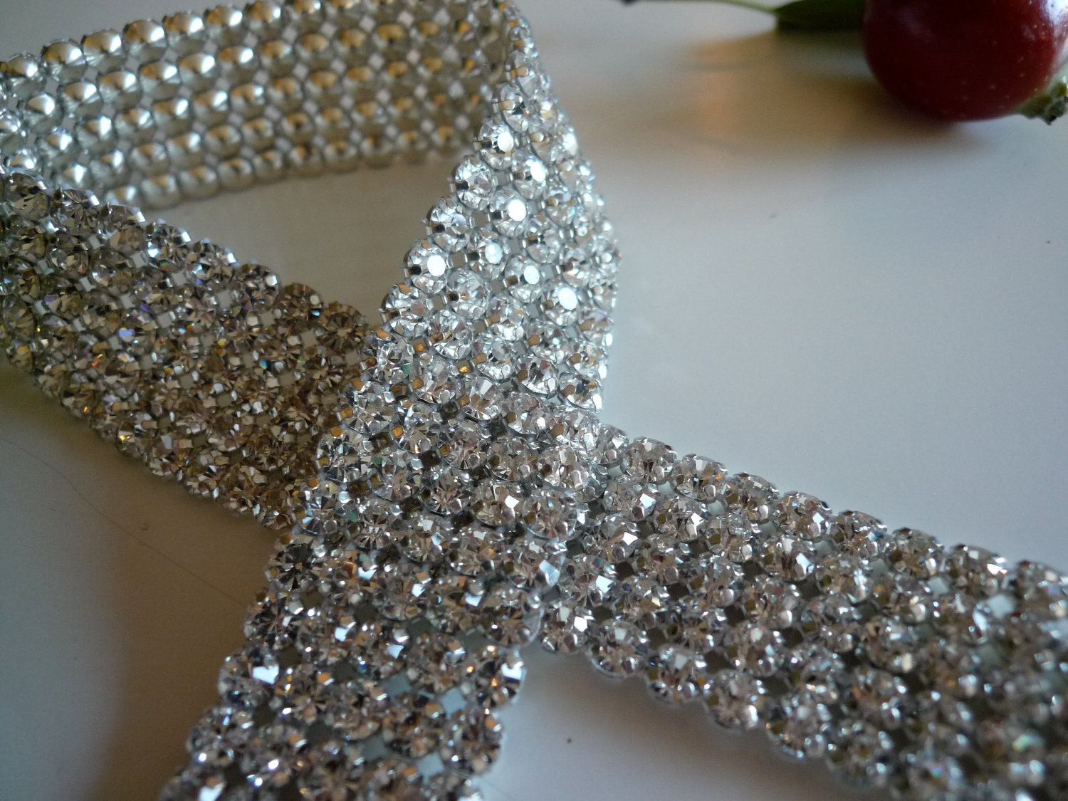Diva Rhinestone Banding Trim Excellent Quality Clear