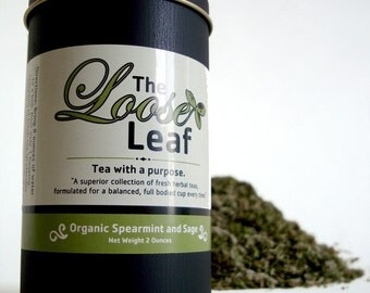 Organic SPEARMINT\SAGE tea 50 cups- Improves digestion while cleansing the body