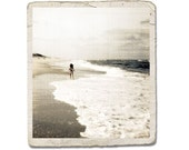 Fine Art Photograph Beach Bum Ocean Surf Girl Child Waves Water Shore Sand Sea Decor