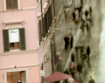 Rome Photograph Dior Boutique Italy Dreamy Pink Couture Fashion Romantic Feminine