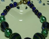 Navy and green bracelet