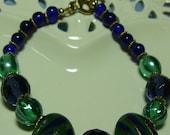 Navy and green bracelet