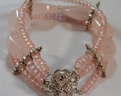 "Rose Quartz Bracelet - 7"""