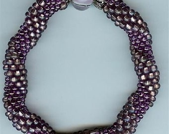 "Amethyst Bangle Bracelet - 7-1/4"""