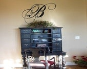 Wall Decal Quote Wall Sticker Stunning Script Monogram Wall Decal Wall Transfer