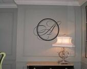 Wall Decal Quote Monogram Elegant Script Monogram Wall Decal Wall Transfer Wall Tattoo