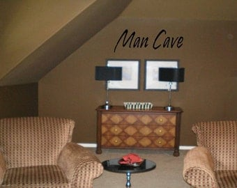 MAN CAVE Wall Decal-Large 9 inch height