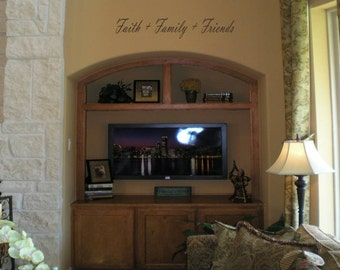 Wall Decal Quote Wall Sticker Faith  Family  Friends Wall Decal/Wall Words/Wall Transfer