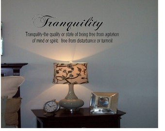 Wall Decal Quote Tranquility with Definition Wall Decal Wall Sticker