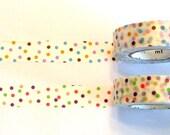 Dots, Japanese masking tape 15mm - set of 2