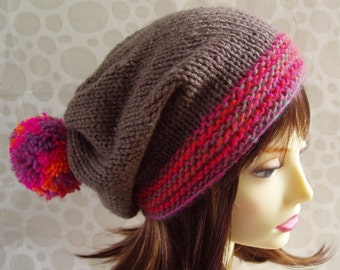 Beanie Knitting Pattern Straight Needles : SLOUCH HAT KNITTING PATTERN STRAIGHT NEEDLES   KNITTING PATTERN