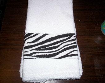 New handmade Wild Zebra Stripes Guest Hand Towel