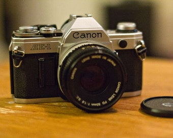 Vintage Canon AE-1 35mm film Camera