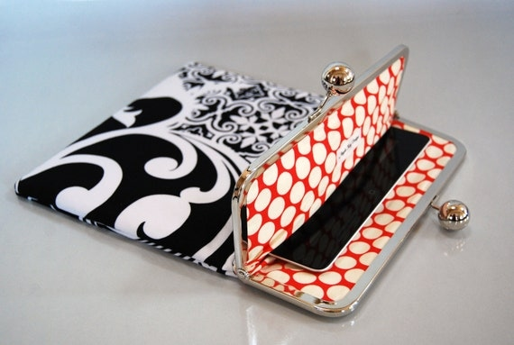 """Ready to SHIP - iPad and Kindle Fire HD 8.9"""" Clutch Case """"Taxi"""" with pocket"""