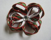 Christmas argyle infant or toddler clippie