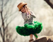 Dreamspun Pettiskirt - Green - You Pick Size Petti Skirt Perfect for Portraits