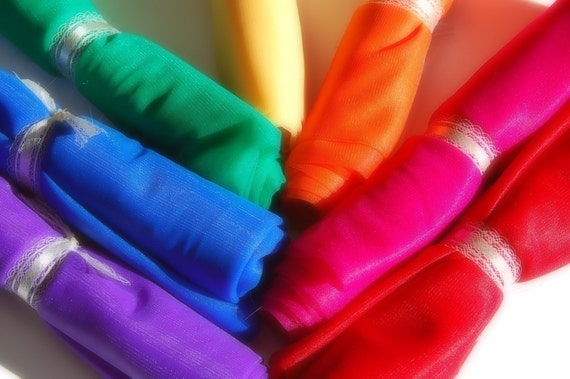 Fifteen(15) EXTRA LARGE Chiffon Playsilks - You Pick Colors - Great Christmas Gift for Kids