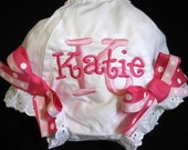 Monogrammed Bloomers with Name and Initial and Bows