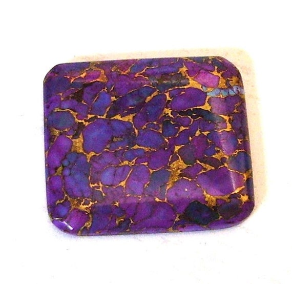 Purple Mojave Turquoise and Bronze Designer Cabochon