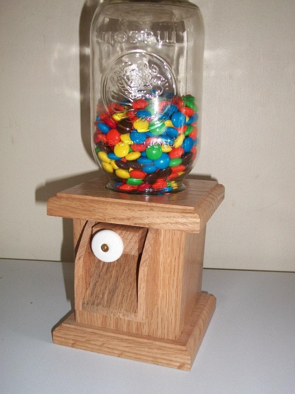 Solid Hardwood Candy Dispenser by madisonwoodsmith on Etsy