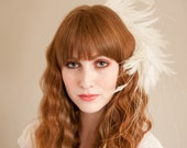 RESERVED for LUCY SALE 70% off Perfect Plume Bridal Fascinator