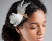 Golden Bird Bridal Hair clip