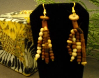 Natural Wonder Earrings/Jewelry/Handmade Jewelry/Earrings Wooden